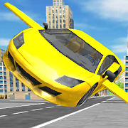 Flying car game : City car games 2020