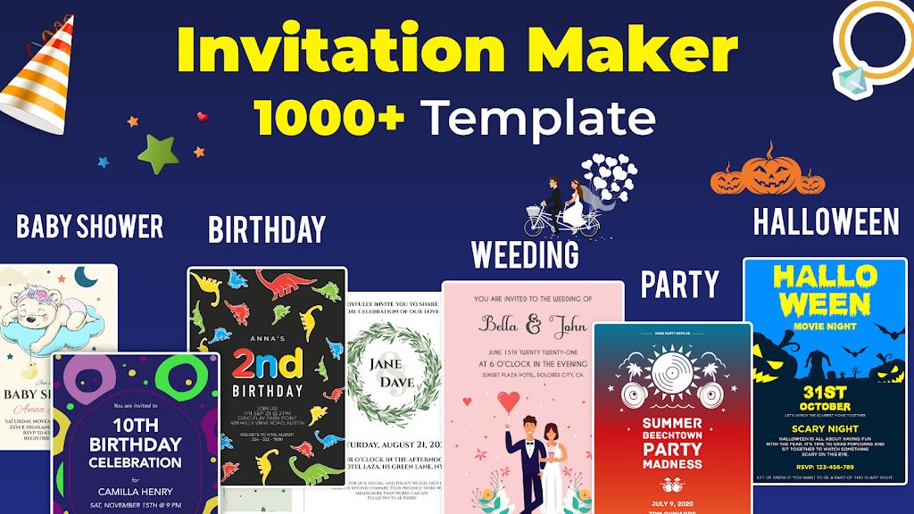 Invitation Maker Free - Birthday & Wedding Card  poster 0