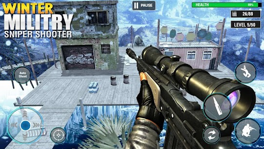 Winter Military Sniper Shooter: new game 2021 Hack for Android and iOS 1