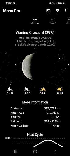 My Moon Phase - Lunar Calendar & Full Moon Phases 3.2.2 Screenshots 1