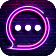 Neon Messenger for SMS - Emojis, original stickers