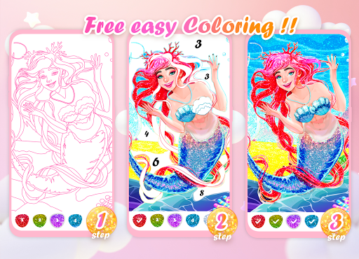 Princess Coloring Book: Special Color by Number 1.5.7 screenshots 4