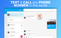 screenshot of Text Me: Text Free, Call Free, Second Phone Number