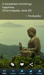Buddha Quotes - Best Daily Buddhist Quote Reminder Screenshot