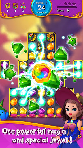 Jewel Witch - Best Funny Three Match Puzzle Game 1.8.2 screenshots 6
