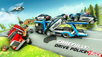 Police Cargo Truck Off Road 3D