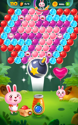 Bubble Bunny: Animal Forest Shooter apkpoly screenshots 9