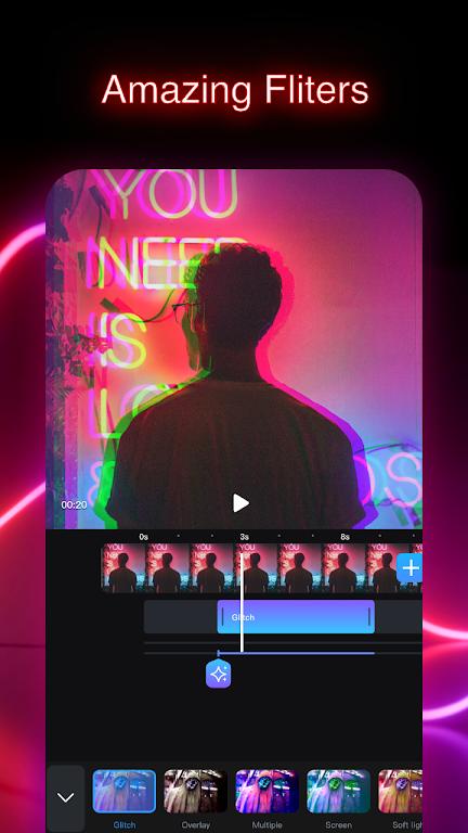 GoCut - Glowing Video Editor  poster 2