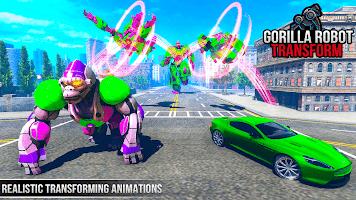 Gorilla Robot Car Robot Games