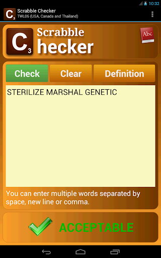 Word Checker (for SCRABBLE) 3.4 screenshots 6