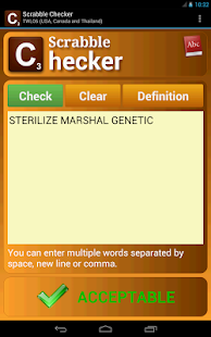Word Checker (for SCRABBLE) Screenshot