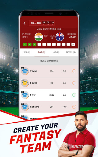 Howzat Fantasy Cricket App - Free Fantasy Games apkdebit screenshots 9