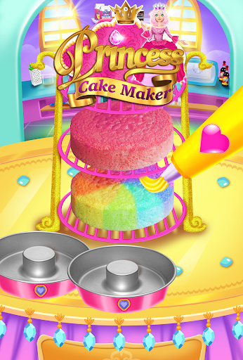 Rainbow Princess Cake Maker - Kids Cooking Games  screenshots 3