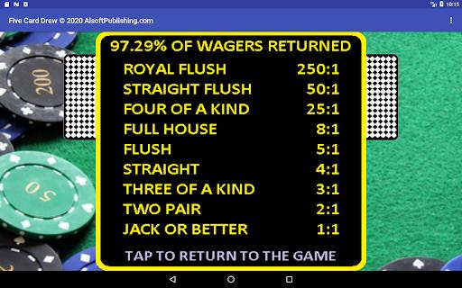 Five Card Draw Poker  screenshots 16