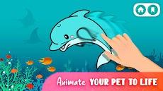 着色や描く出来る動物の塗り絵 - ぬりえ 無料のおすすめ画像2