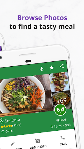 Find Vegan Restaurants & Vegetarian Food- HappyCow 62.0.56-free-v2 Screenshots 5