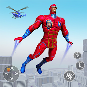 Police Robot Rope Hero Game 3d