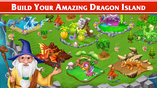 Dragon Paradise City: Breeding War Game Mod Apk 1.3.50 (Unlimited Gold/Gems/Food) 1