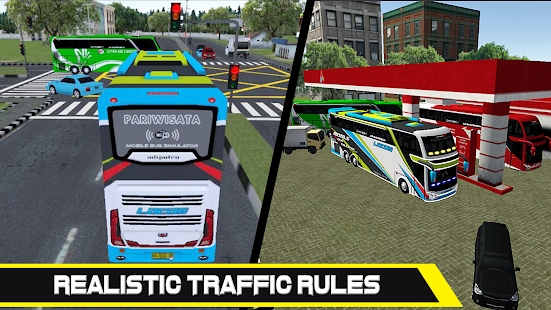 Mobile Bus Simulator Screenshot