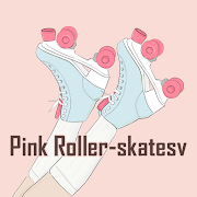 Girly Wallpaper Pink Roller-skates Theme