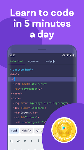 Mimo: Learn coding in HTML, JavaScript, Python android2mod screenshots 1