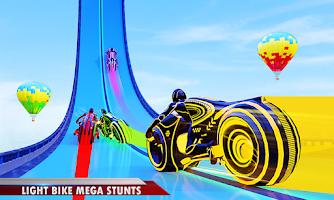 Mega Ramp Light Bike Stunts: New Bike Racing Games