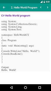 Dot net Programs