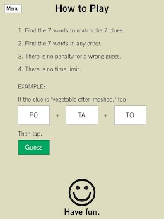 7 Little Words: A fun twist on crossword puzzles Screenshot