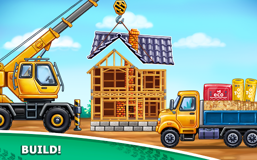 Foto do Truck games for kids - build a house, car wash