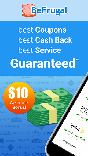 BeFrugal Cash Back & Coupons modavailable screenshots 1