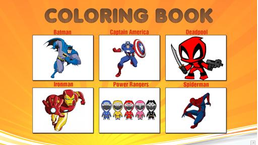 Superhero Coloring Book - Kids 1.0.0 screenshots 1