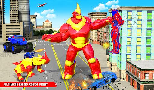 Rhino Robot Monster Truck Transform Robot Games  screenshots 15