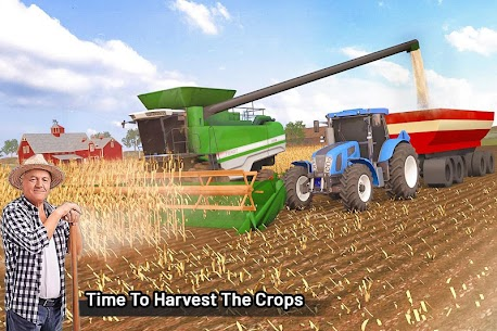 Modern Farming Simulation  Tractor  Drone Farming Apk 3