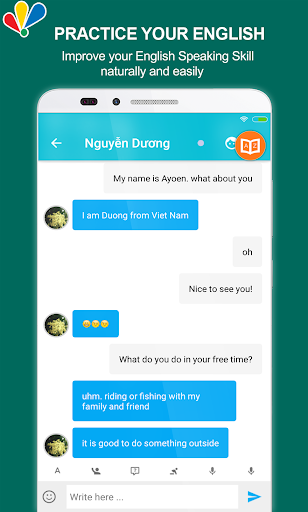 chat to learn english screenshot 2