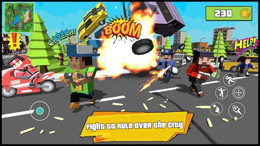 Blocky Dude Theft Crime Wars - Gangster Auto City  screenshots 1