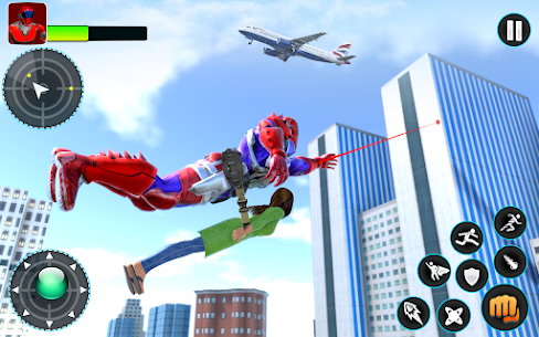 Flying Robot Hero – Crime City Rescue Robot Games 10