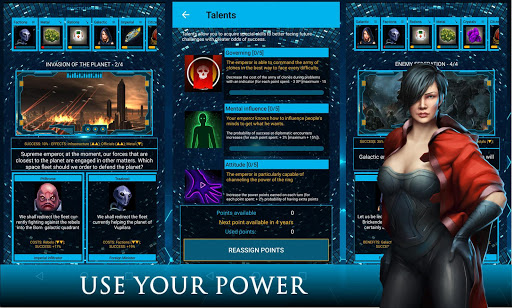 galactic emperor: space strategy & rpg, sci-fi screenshot 1