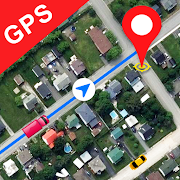 GPS Satellite Map, Live Navigation & Speedometer