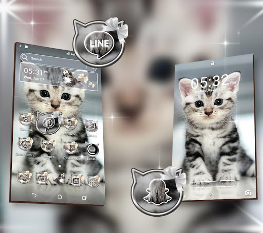 Cute Cat Launcher Theme modavailable screenshots 4