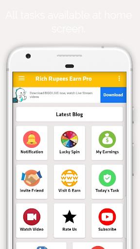 Rich Rupees Pakistan Earn - Make Mony Online  screenshots 3