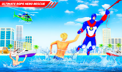Flying Police Robot Rope Hero: Gangster Crime City  screenshots 17