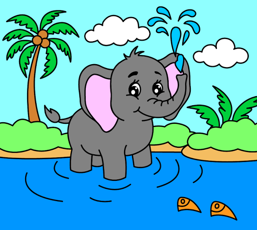 Coloring pages for children: animals  screenshots 1
