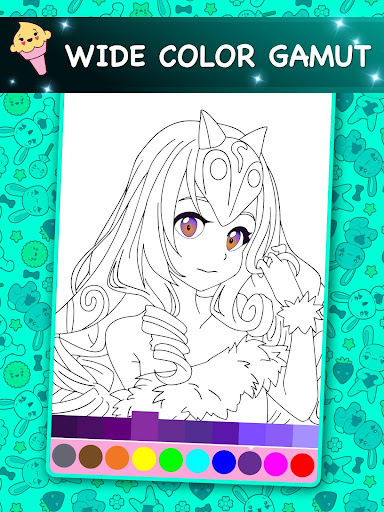 Kawaii - Anime Animated Coloring Book 3.9 screenshots 4