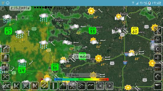 eMap HDF - weather, hurricanes and rain radar 2.2.8 Screenshots 9