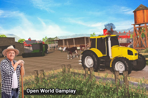 Modern Farming Simulation: Tractor & Drone Farming android2mod screenshots 6