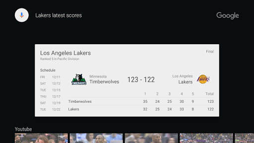 Google app for Android TV 2.2.0.138699360 Screenshots 5