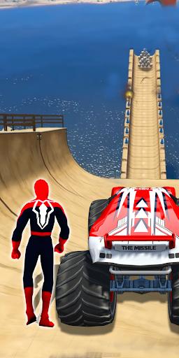 Superhero Mega Ramp Car Stunt - Monster Truck Race  screenshots 8