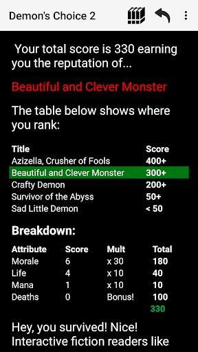 Demon's Choice: Choices Game RPG 4.6 screenshots 8
