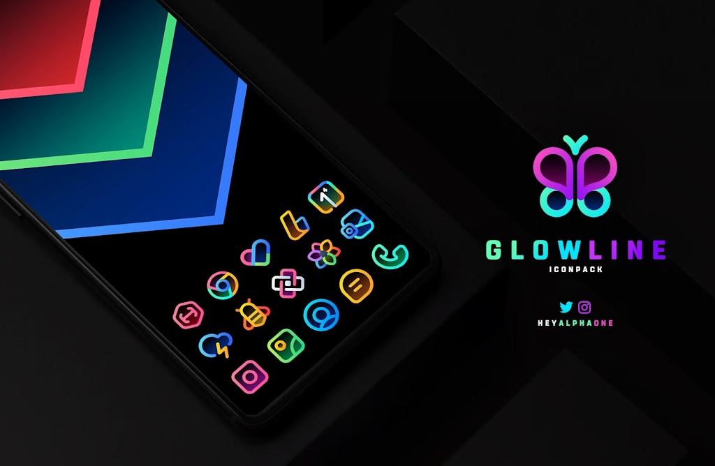 GlowLine Icon Pack  poster 0