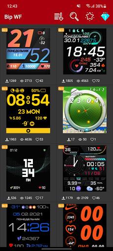 Amazfit Bip/U/U-Pro - Watch Face apktram screenshots 1